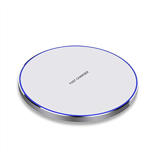 Qi Ladestation Wireless Charger 10W Induktionsladegerät Kompatibel mit Samsung Galaxy S10/S9/S8, 7,5W kabelloses Ladegerät für iPhone 11 Pro/X/XR/XS,5W für Airpods 2/Galaxy Buds und Qi-fähigen Geräte