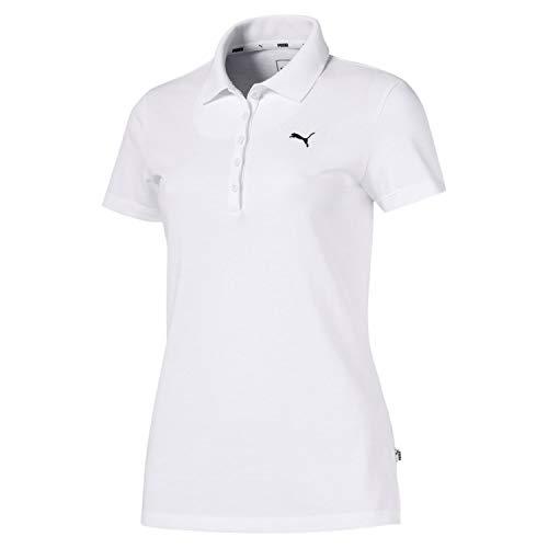 PUMA Damen ESS Polo Poloshirt, White-CAT, XL -