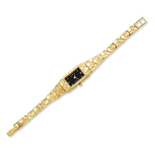 icecarats-designer-jewellery-10ct-black-15x31mm-dial-rectangular-face-nugget-watch-in-7-inch