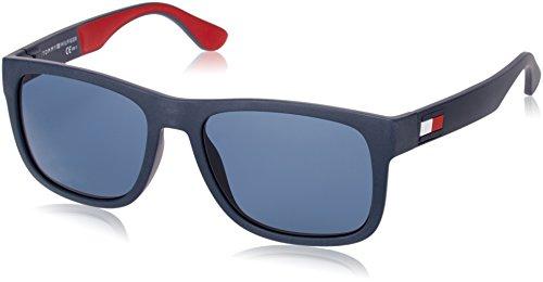 Tommy hilfiger th 1556/s, occhiali da sole uomo, bl redwht, 56