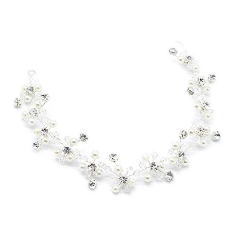 Xuniu Braut Haarband, Pearl Crytal Stirnband für Hochzeit Braut Zubehör Tiara Ornamente