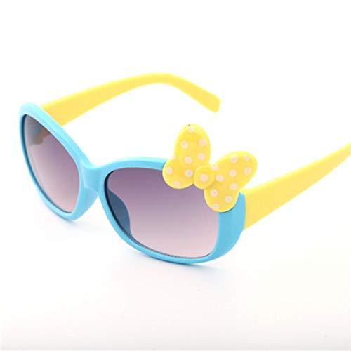MoHHoM Sonnenbrillen Für Kinder,Fashion Cat Eye Cute Bug Kinder Sonnenbrille Für Junge Mädchen Baby Sonnenbrille Kinder Sport Outdoor Schatten Brillen Uv 400 Blau
