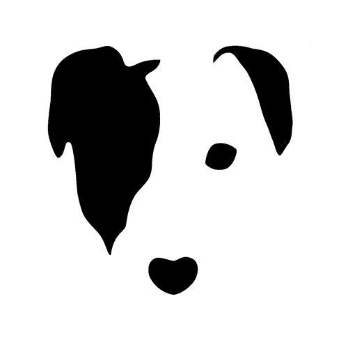 TeriliziNiedliche Jack Russell Gesicht Hund Vinyl Aufkleber Auto Aufkleber Lustige Fenster Wandaufkleber Schwarz/Weiß-11,2 Cm * 11,4 Cm -