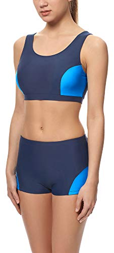 Merry Style Damen Sport Bikini Set Modell S1LL (Dunkelblau (6007)/Blau (60009), 40)