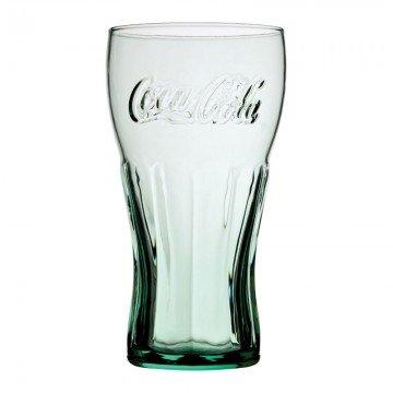 Utopia Lot de 1 - Coca Cola 453,6 Gram (45cl) de Style géorgien en Verre Vert - renforcé