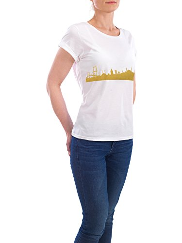 "Design T-Shirt Frauen Earth Positive ""ISTANBUL GOLD Print Love"" - stylisches Shirt Städte Städte / Istanbul Reise Architektur von 44spaces Weiß"