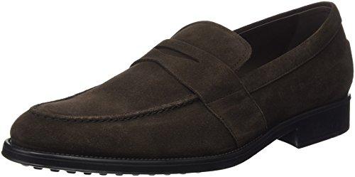 TODS - Xxm0Xd0N520Re0S800, Zapatos De Cordones Brogue da uomo, marrone (testa moro), 41 1/2
