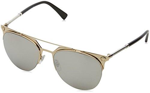 Versace Herren 0VE2181 12526G 57 Sonnenbrille, Pale Gold/Lightgreymirrorsilver