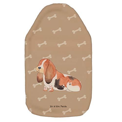 Mr. & Mrs. Panda Kinderwärmflasche, Wärmekissen, Wärmflasche Hund Basset Hound - Farbe Hundeglück -
