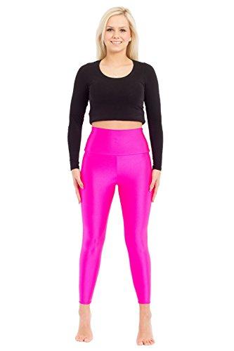 Turnarena Damen Spandex High Waist Leggings, Größe:Damen 50;Farbe:silber