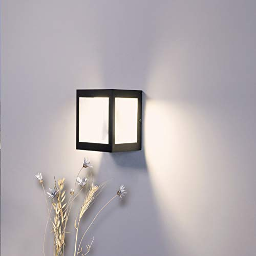 Außenlampe Aussenleuchte LED Aussenwandleuchten für Platz Lichtquelle, wetterfest 220-240V 12W 4000K IP44 LIGHTMAN