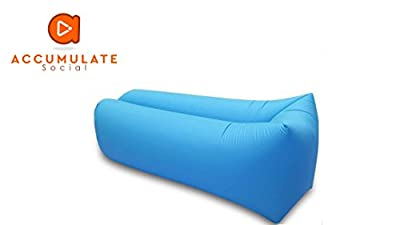 Inflatable Lounger Sofa/ Chair/ Couch/ Bed, Air Sofa, Sofa Bed, with storage Bag – Perfect and Durable for Camping, Lounging, Hiking, Travelling, Beach, Pools, Fishing, Festivals, Park and Kids - cheap UK light store.