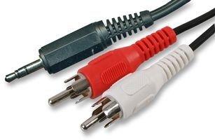 3,5-mm-Mini-Klinkenstecker, Stereo auf Doppel-RCA-Phono-Aux, Audiokabel, rot und weiß, 1,2m bis 10 m 5m Schwarz  - 12 3 Rca Component