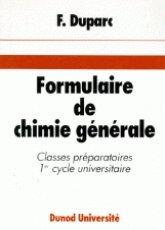 Formulaire de chimie générale par François Duparc