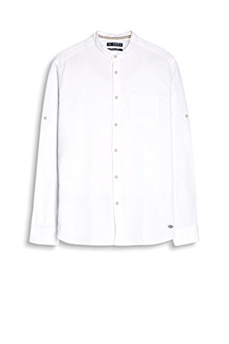 Esprit 997ee2f805-Basic, Chemise Casual Homme Blanc (Off White)