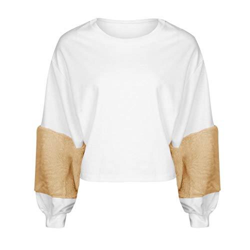 Kaschmir Pullover Damen MEIbax Frauen Sweatshirt Patchwork Kaschmir -