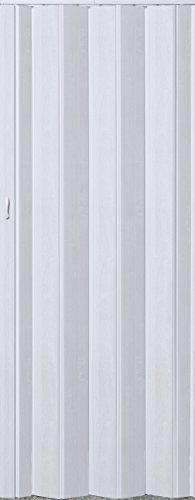 Falttür Schiebetür Tür weiß gewischt farben Höhe 202 cm Einbaubreite bis 109 cm Doppelwandprofil Neu TOP-Qualität