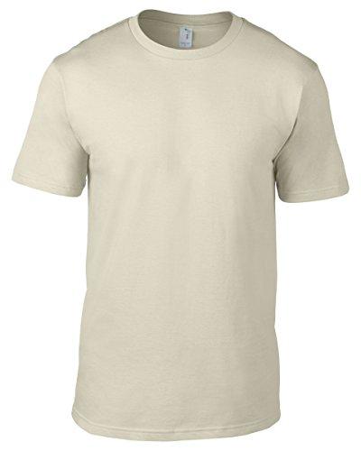 anvil Herren Organic Fashion Basic T-Shirt / 490 XXL,Braun - Natural