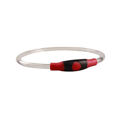 Igemy LED Hundehalsband, Wiederaufladbares Blinkendes Licht USBs Wasserdichter Sicherheitsgurt (Orange)