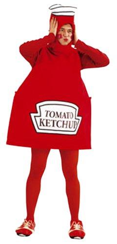 Cesar B349-002 - Ketchup Flasche Größe (Ketchup Kostüm Flasche)