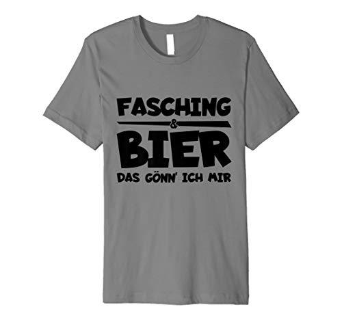 Fasching und Bier lustiges Kostüm Männer Fun T-Shirt Fest