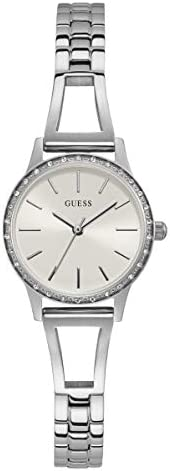 GUESS Womens Quartz Watch, Analog Display and Stainless Steel Strap GW0025L1