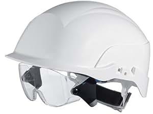 Swiss one - Casque de chantier avec sur-lunettes de protection modele global - Coloris.Blanc -
