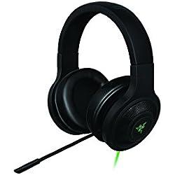 Razer Kraken - Auriculares con USB y sonido envolvente para PC, PS4, música y gaming, color negro