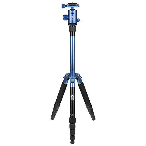 SIRUI T-005BX/C-10S Traveler Ultralight - extrem leichtes Alu Reisestativ mit 360°-Kugelkopf, sehr kleines Packmaß - blau