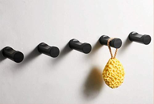 YYXLLZinc Alloy Paint Schwarz Single European Garderobe Garderobe Bad Kreative Tür Hinten Schlüssel Haken Wasserdicht