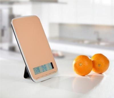 sehr praktische XL Multifunktions Küchenwaage – wiegt bis 10Kg – mit Glasoberfläche im eleganten orangen Design – NEU & OVP - 2