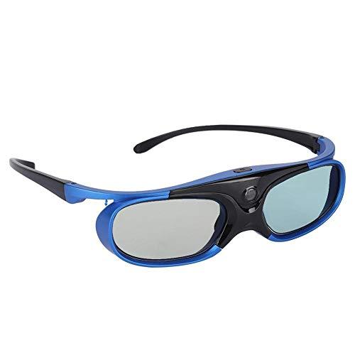 Wendry Occhiali 3D Ultra-Clear HD, Occhiali 3D Tipo Active Shutter Attivi Occhiali 3D DLP Link Occhiali 3D Projector per la Maggior Parte dei proiettori 3D DLP