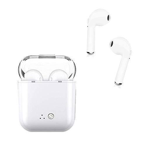 Auriculares inalámbricos Bluetooth para auriculares, auriculares estéreo con micrófono, auricular Bluetooth y caja de carga compatibles para iPhone 7 / 7plus, 8 / 8Plus, Samsung s9, s8 …