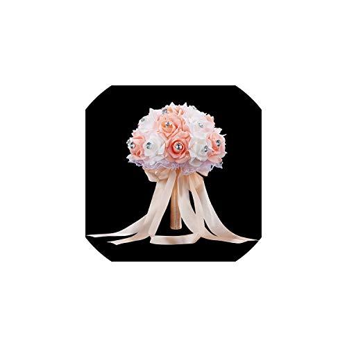 Kion Pasue bridal bouquets Brautblumenstrauß für Hochzeit Blau und Weiß Wedding Bouquet Künstliche Blumen Rose, Rosa - Strand Bouquet Hochzeit