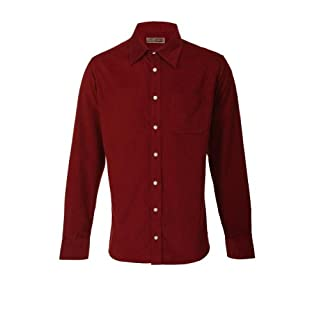 Alexanders of London Ed Baxter Fine Corduroy Long Sleeve Shirt Red Berry - Size M