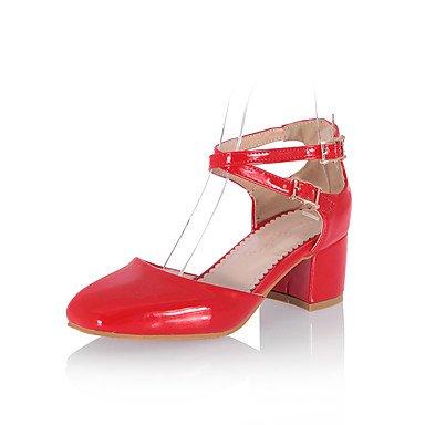 LFNLYX Donna Sandali Primavera Estate Autunno altri PU Party & abito da sera Casual Chunky Heel altri Nero Blu rosa rosso Oro Bianco Altri White