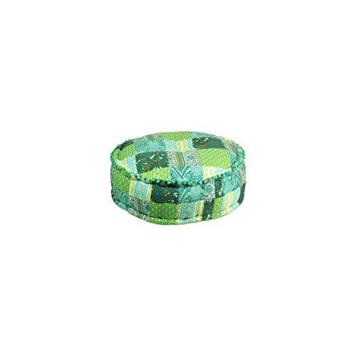 Art Deco Home - Puff Algodón Verde 60 cm - 14040SG