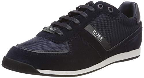 BOSS Herren Maze_Lowp_MX Sneaker, Blau (Dark Blue 401), 43 EU