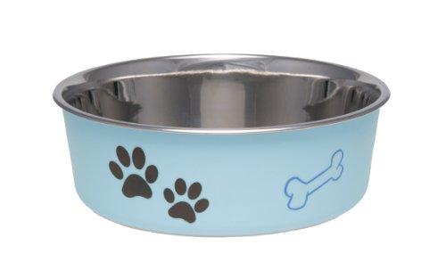 LOVING PETS 1785 Bella Schüssel Dog Bowl, L, 1.5 Liter, Muranoglas blau -
