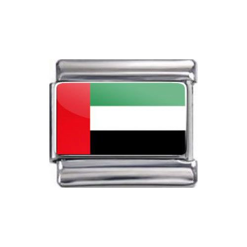 Preisvergleich Produktbild Italian Charms Modul Nationalflagge Vereinigte Arabische Emirate ...by Kult-Schmuck