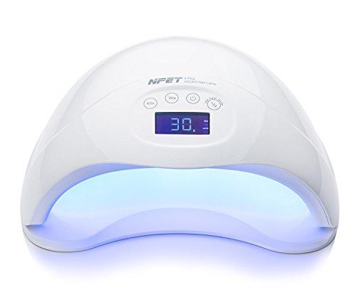 NPET 5 PLUS 48W UV LED Lampe Sèche Ongles Séchoirs à Ongles Nail Lamp - Blanc