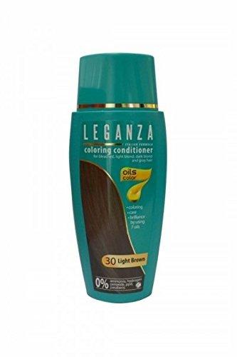 SPARSET 2 x Leganza Färbender Conditioner Farbe 30 Hellbraun Mit 7 natürlichen Ölen Ammoniak und Paraben frei (Ppd-haare Färben)