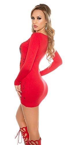 KouCla - Robe - Moulante - Femme Rouge
