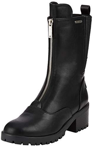 Pepe Jeans London Fulham Zip, Botines para Mujer, Black 999, 38 EU