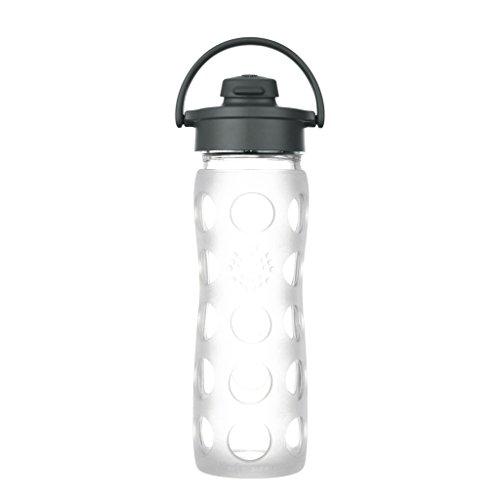 Lifefactory Trinkflasche mit Flip Cap, Glas, klar, 454ml