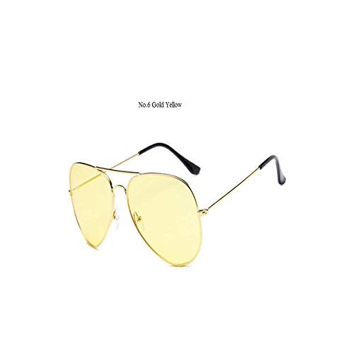 Daawqee Prämie Sonnenbrillen,Brillen, Sunglasses Women Glasses Frames Candy Color Orange Transparent Clear Lens Pilot Eyeglasses Retro S1459