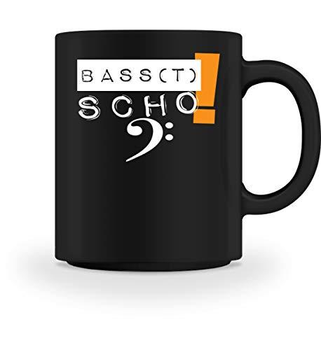 Basst Scho! Ideal für alle Bässe und Bass Sänger, die Ihren Chor lieben! - Tasse -M-Schwarz