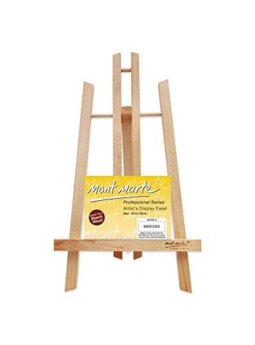 MONT MARTE Caballete Mesa pequeña de madera de Haya - Medio - Caballete compacto - Ideal para la presentación de lienzos y marcos de hasta 40 cm - Ideal para Eventos, Exhibiciones y Convenciones