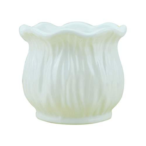 Vosarea vaso da fiori in ceramica bianco brillante stile creativo nordico portavaso da fiori in ceramica artistica contenitore per piante decorazione vaso