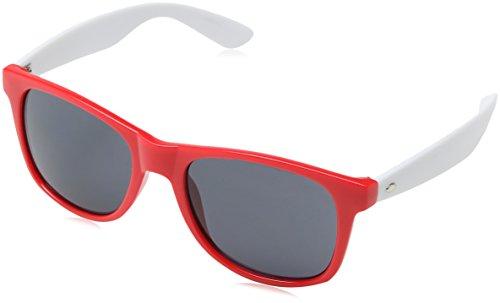Masterdis groove shades gstwo occhiali da sole, unisex, 10225, rosso/bianco, taglia unica